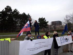 Alena Krempaska na pochode